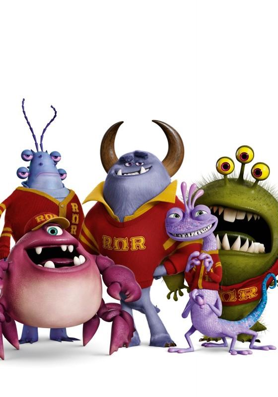 Monsters University - Javier Rios, Johnny Worthington III, Reggie Jacobs, Chet Alexander e Randall Boggs