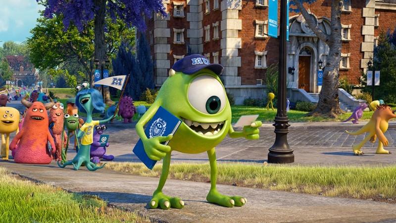 Monsters University: Mike Wazowski in una scena del film d'animazione