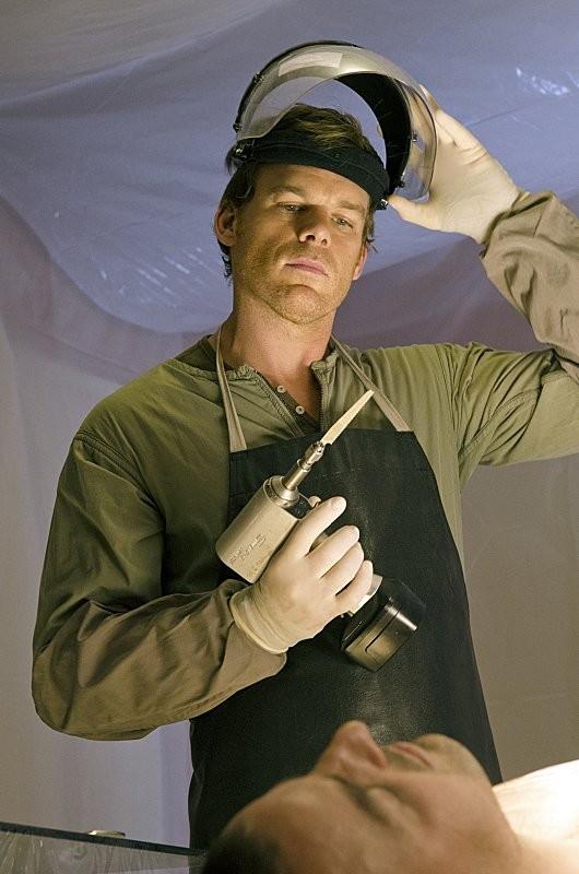 Dexter: Michael C. Hall in una scena dell'episodio A Beautiful Day