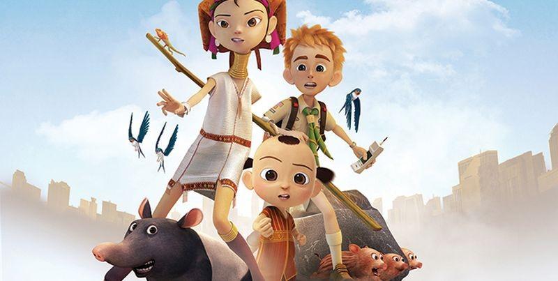 Eco Planet - Un pianeta da salvare: i protagonisti Jorpe, Norva e Sam in una scena del film animato