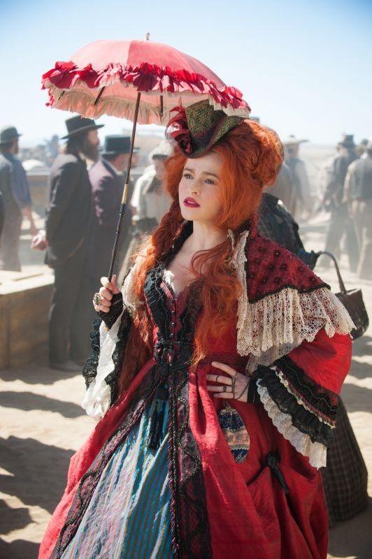 The Lone Ranger:  Helena Bonham Carter sul set del film