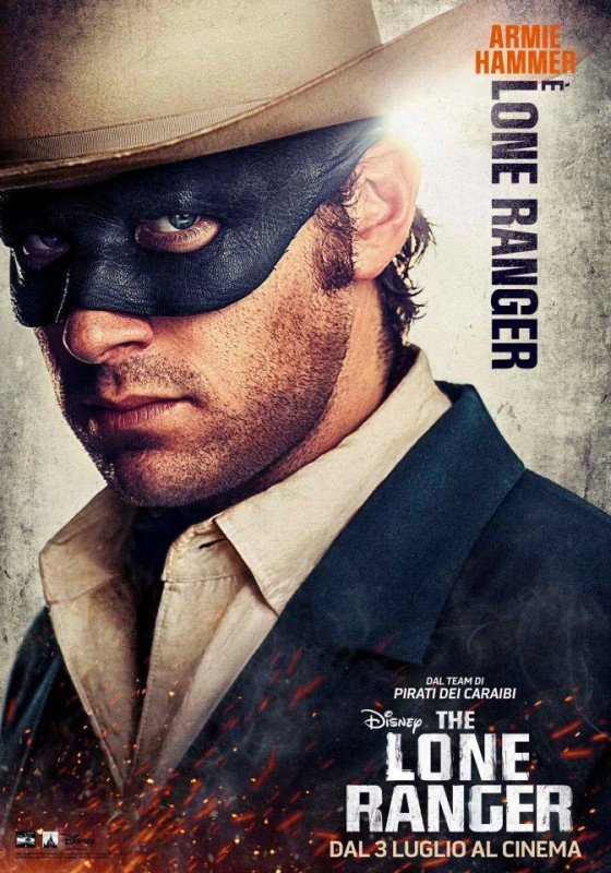 The Lone Ranger: il character poster italiano di Armie Hammer