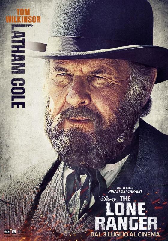 The Lone Ranger: il character poster italiano di Tom Wilkinson nei panni di Latham Cole