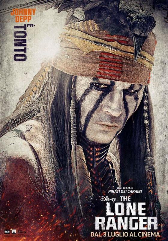 The Lone Ranger: il character poster italiano per il 'Tonto' di Johnny Depp