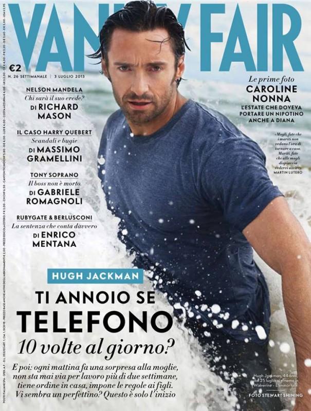 Hugh Jackman sulla copertina di Vanity Fair Italia (giugno 2013)
