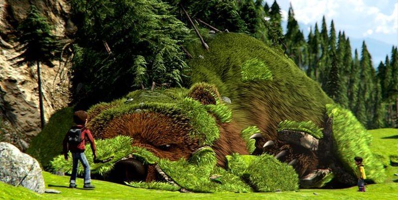 Il grande orso: una scena tratta dal film animato