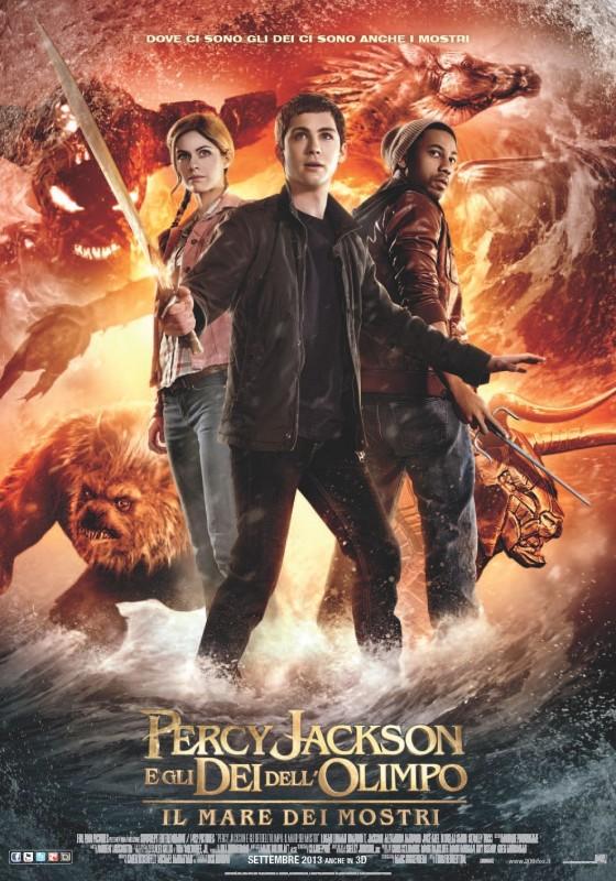 Percy Jackson e gli dei dell'olimpo: Il mare dei mostri, la locandina italiana