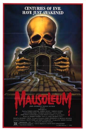 Mausoleum: la locandina del film
