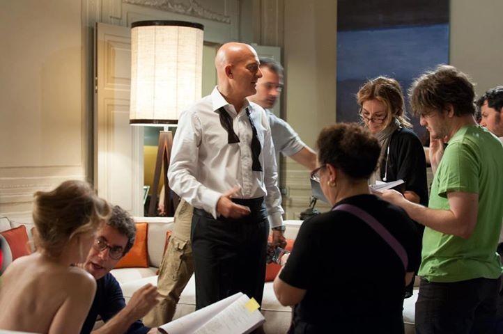 La gente che sta bene: Claudio Bisio sul set del nuovo film di Francesco Patierno