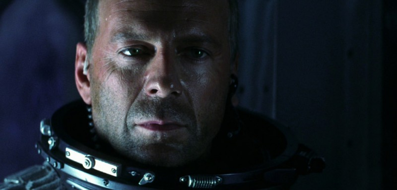 Bruce Willis in una sequenza di Armageddon (1998)