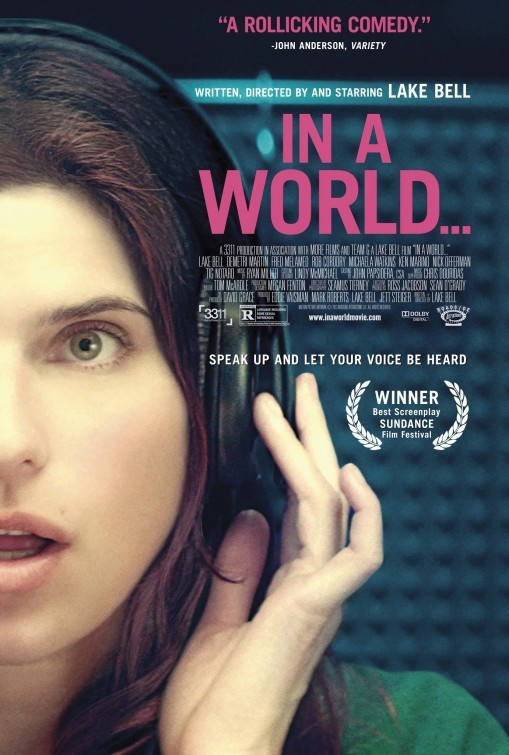 In a World...: la locandina del film