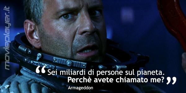 La nostra e-card di Bruce Willis in una sequenza di Armageddon - condividila sui social network o inviala a chi vuoi!