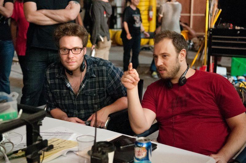 Facciamola finita: i registi Seth Rogen e Evan Goldberg sul set