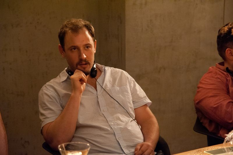 Facciamola finita: il co-regista Evan Goldberg in un'immagine dal set