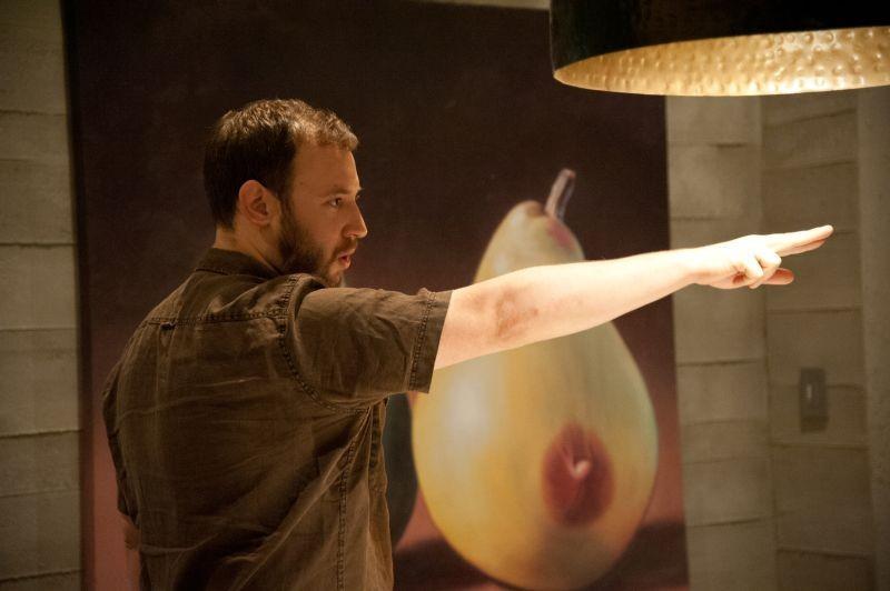 Facciamola finita: il co-regista Evan Goldberg sul set