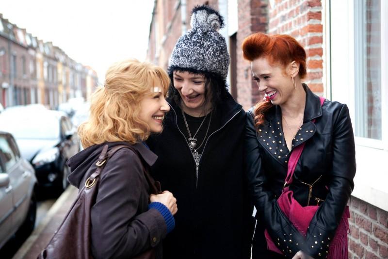 Les reines du ring: Corinne Masiero e Audrey Fleurot in una scena con Nathalie Baye