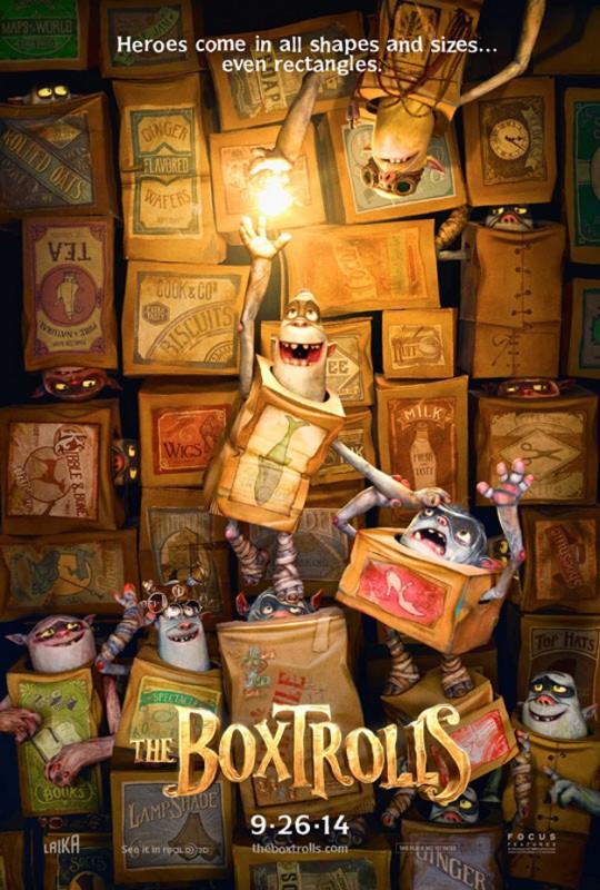 The Boxtrolls: la locandina del film