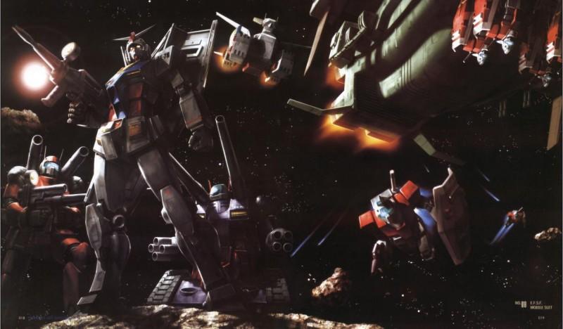 Mobile Suit Gundam: un'immagine promozionale dell'anime
