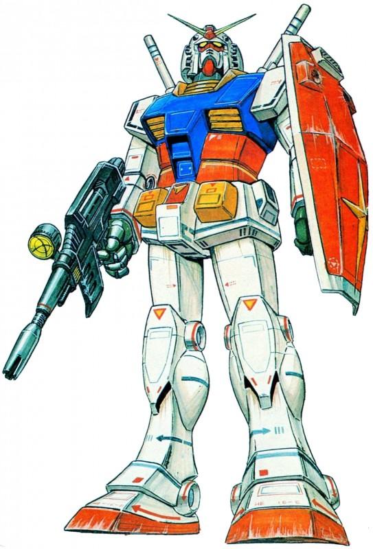 Mobile Suit Gundam: un'illustrazione del Gundam RX-78