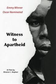 Witness to Apartheid: la locandina del film