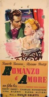 Romanzo d'amore: la locandina del film