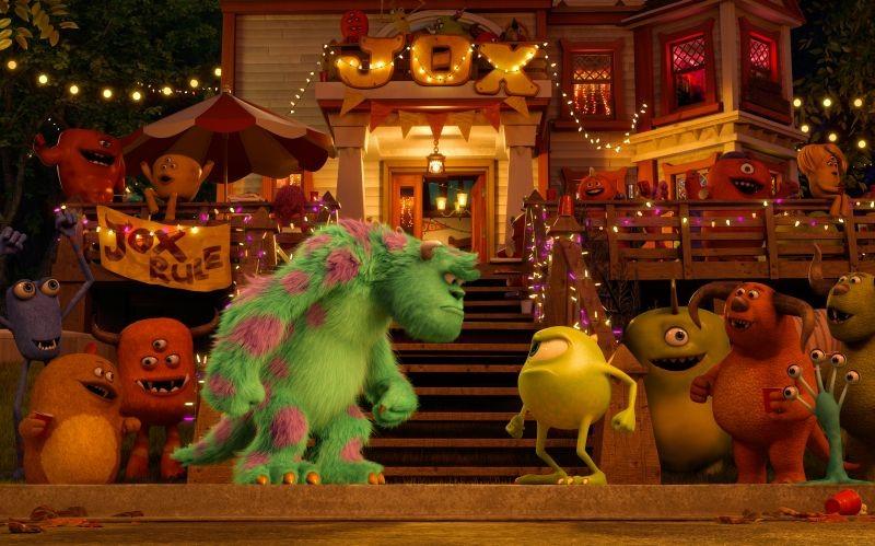Monsters University: Mike e Sulley in una scena