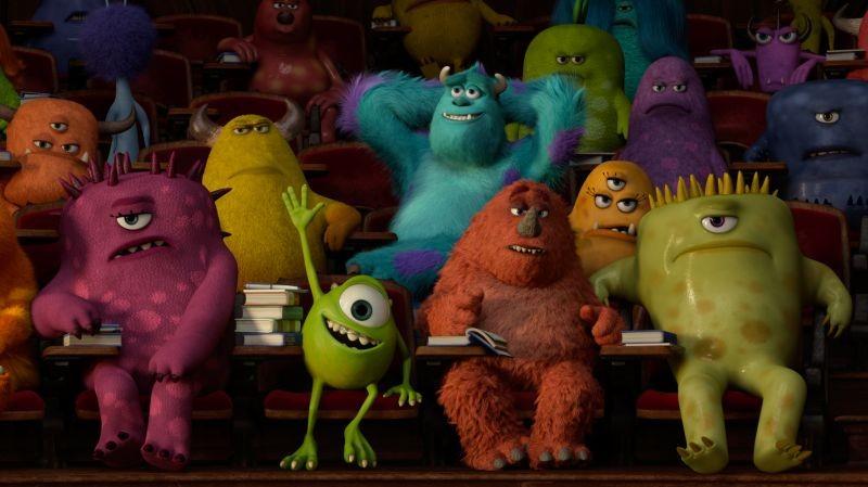 Monsters University: Mike fa il saputello a lezione in una scena