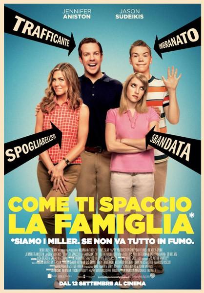 Come ti spaccio la famiglia: la locandina italiana del film