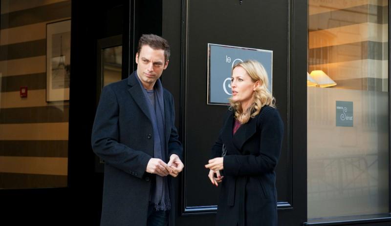 Mr. Morgan's Last Love: Gillian Anderson e Justin Kirk in una scena
