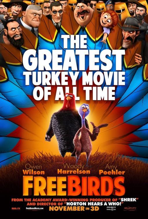Free Birds: primo poster del film
