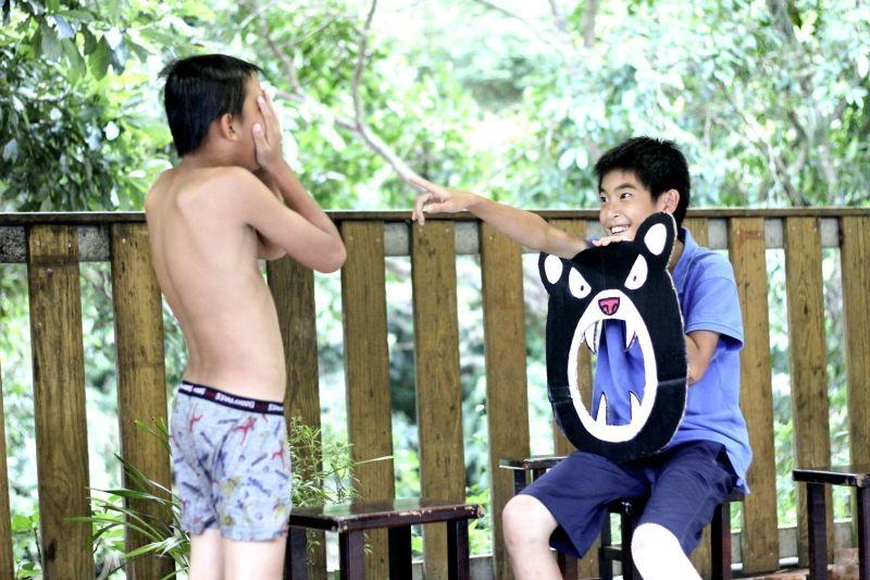 A Time in Quchi: giochi tra bambini in una scena del film