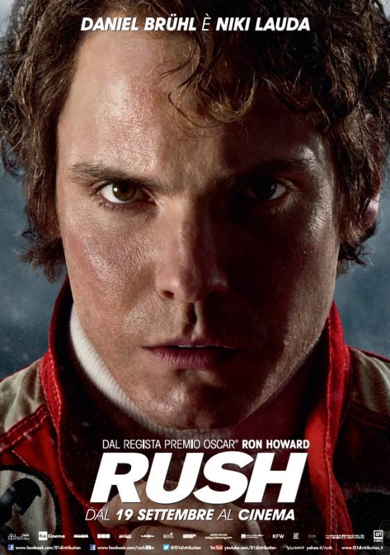 RUSH - il character poster in esclusiva di Niki Lauda (Daniel Bruhl)