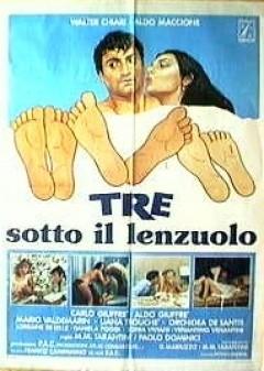 Tre sotto il lenzuolo: la locandina del film