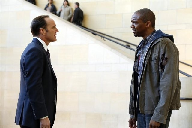 Agents of S.H.I.E.L.D.: J. August Richards e  Clark Gregg nel pilot della serie