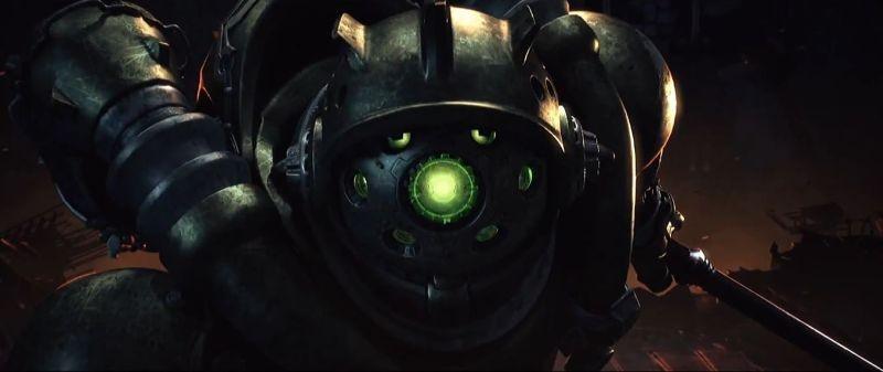 Captain Harlock: robot ostili in una scena del film di Shinji Aramaki