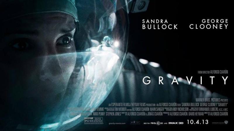 Gravity: Sandra Bullock nel poster orizzontale del film
