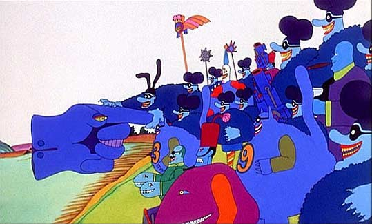Una scena del film Yellow Submarine