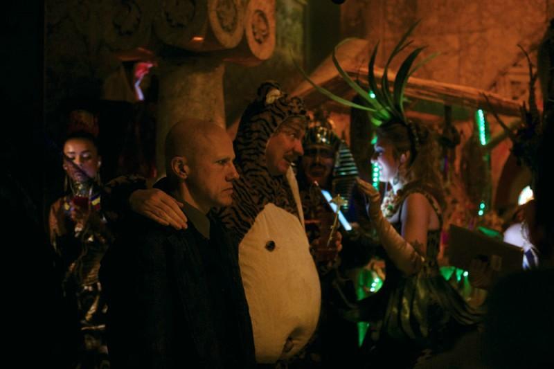 The Zero Theorem: Christoph Waltz con David Thewlis in un'immagine del film