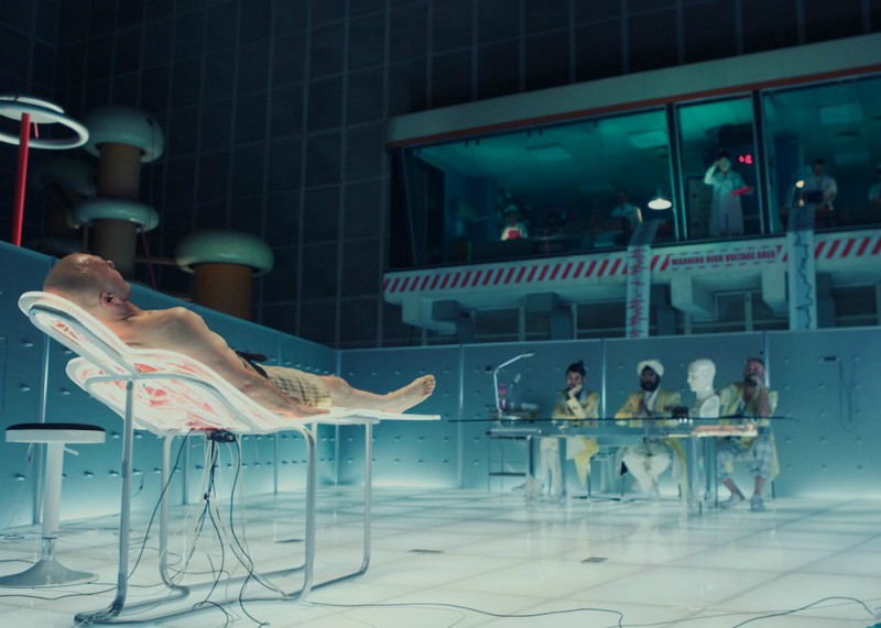 The Zero Theorem: Christoph Waltz in una scena tratta dal film di Terry Gilliam