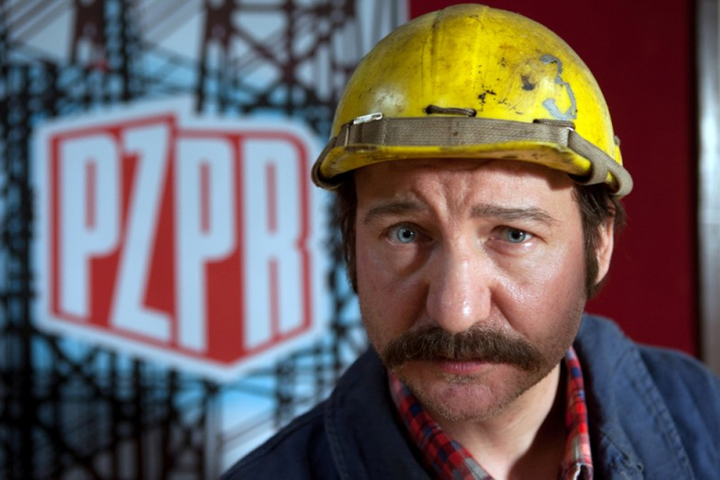 Walesa. Man of Hope: Robert Wieckiewicz nei panni di Lech Walesa in un'immagine promozionale