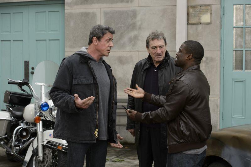 Il Grande Match: Robert De Niro, Sylvester Stallone e Kevin Hart discutono animatamente in una scena
