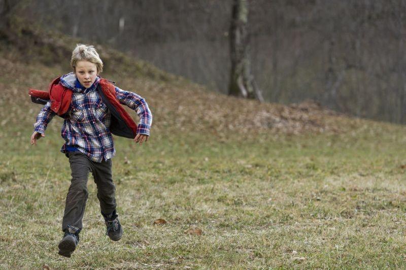 La prima neve:il piccolo Matteo Marchel in una scena