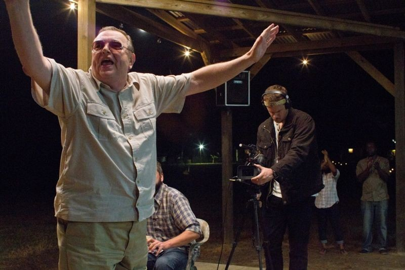 The Sacrament: Joe Swanberg in un'immagine dal set