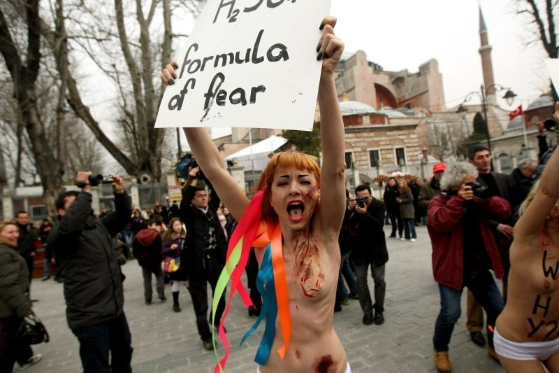 Ukraine is not a Brothel: un'immagine del documentario che mostra le proteste delle Femen