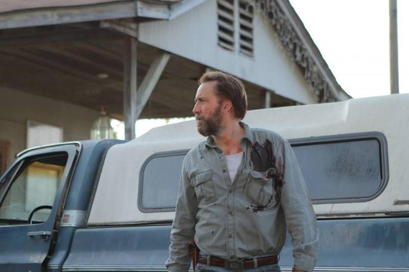 Joe: una scena del film con Nicolas Cage