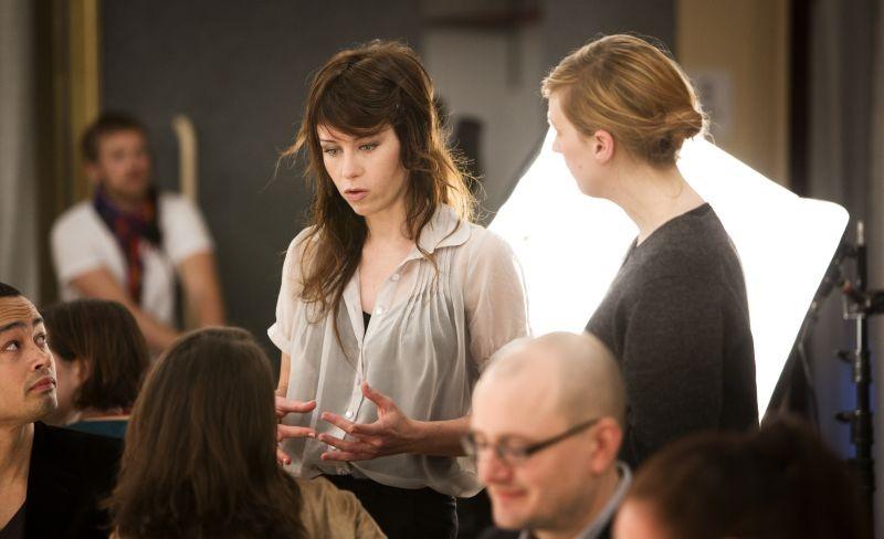 Återträffen: la regista e interprete del film Anna Odell sul set del film
