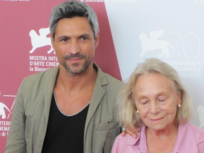 Elena Cotta e Carmine Maringola alla Mostra di Venezia 2013 per il film Via Castellana Bandiera