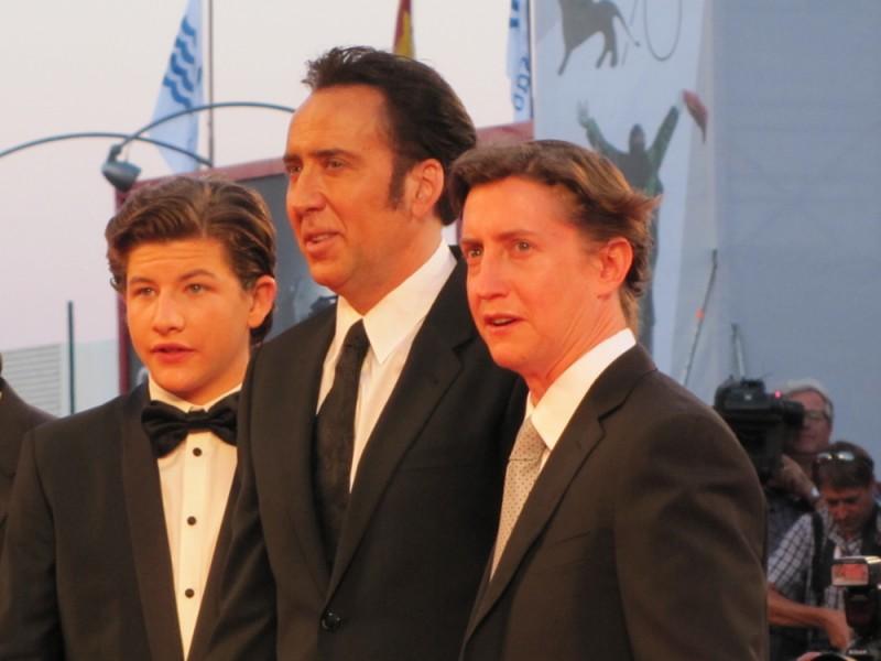 David Gordon Green e Nicolas Cage presentano 'Joe' sul tappeto rosso della Mostra di Venezia 2013 con Tye Sheridan