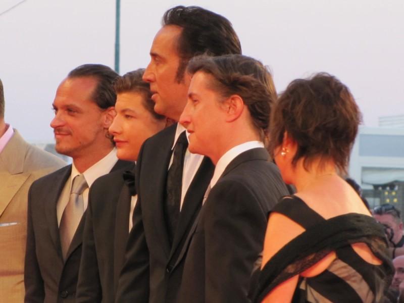 David Gordon Green e Nicolas Cage presentano 'Joe' sul tappeto rosso della Mostra di Venezia 2013 con Tye Sheridan e  Ronnie Gene Blevins