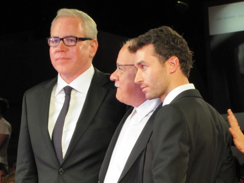 The Canyons a Venezia 2013 - Paul Schrader con Bret Easton Ellis, James Deen sul tappeto rosso
